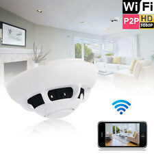 HD 1080p WiFi Spy IP Camera Detection Hidden Smoke Detector Motion Nanny Cam UK