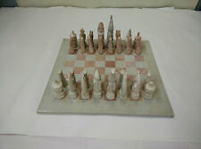 Stunning Soap Stone African Chess Set from Kenya - AD