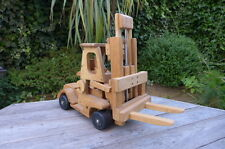 Vintage wooden large fork lift toy handmade working order shop house pub club