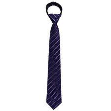 New Kids Boys Zipper up Adjustable Pre-tied Necktie Purple Silver Black Stripes