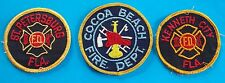 LOT OF 3 FIRE DEPARTMENT PATCHES! ST PETERSBURG FL, COCOA BEACH, KENNETH CITY FL