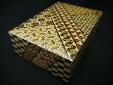 JAPANESE TRADITIONAL WOODEN MARQUETRY BOX  5.9 INCHED X 8.38 INCHED (M7)