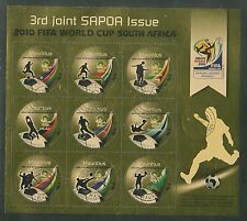 3rdJOINT SAPOA-2010 FIFA WORLD CUP SOUTH AFRICASOUVENIR SHEETMINT CANCELLED.RARE