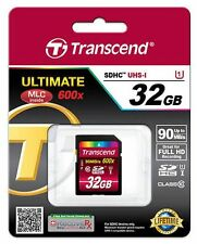 Transcend Ultimate 32GB 90MB/s 600X Class 10 SDHC SD UHS-I Flash Memory Card*