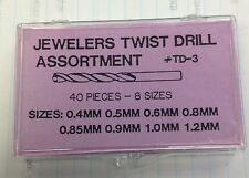 Brand New Miniature High Speed Twist Drill Set 8 Sizes - Free Shipping!