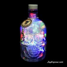 Silver Mercury Effect Pirate Style Crystal Skull Head Multicolor LED Bottle Lamp