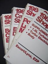 1984 Ford Shop Manuals Tempo/Topaz, Escort/Lynx, EXP Repair Manuals