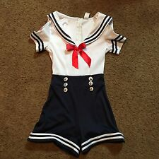Sailor Costume Adult Female Small Halloween Romper Party Dress Up Fantasy