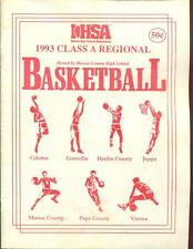 High School Basketball Program Illinois 1993 Tournament Boys AA