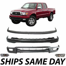 New- Complete Steel Front Bumper Combo Kit W/ Lights For 2001-2004 Toyota Tacoma