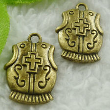 Free Ship 200 pieces bronze plated corselet charms 23x15mm #1874
