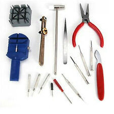 16pcs Watch Repair Tool Kit Band Strap Link Remover Back Opener Screwdriver UK