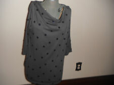 Womens Old Navy Sz XL Gray Top w/Royal Blue Sequins NWT