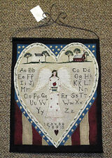 Americana Angel Sampler Tapestry Bannerette Wall Hanging