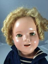 "Antique Composition 13"" Ideal Shirley Temple Captain January Tagged"