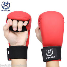 Wansda WSD - 1010 Paired PU Leather Boxing Punching Karate Fighting Gloves L