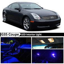 9x Blue LED Lights Interior Package 2003-2007 G35 Coupe + TOOL