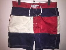 VTG TOMMY HILFIGER SWIM BOARD SHORTS TRUNKS MEN'S M