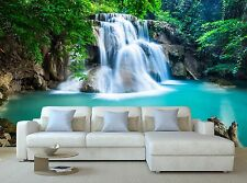 Huay Mae Kamin Waterfall in Kanc 3D Mural Photo Wallpaper Decor Large Paper Wall