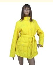 Women's Nautica Yellow Quilted Trench Coat Size Large NWOT