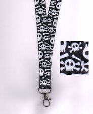 1 x Skull and Crossbones Breakaway Safety Neck Strap Lanyard: FREE UK P&P