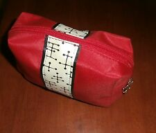 Eames American Airlines First Class 14 Piece Amenities Kit Red Makeup Case Bag