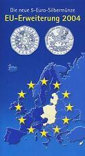 Österreich 5 Euro 2004 Silber EU-Erweiterung hgh im Blister