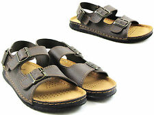 NEW MENS GENTS KAHVE BUCKLE STRAPS SUMMER HOLIDAY WALKING BEACH SANDALS