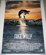 FREE WILLY MOVIE POSTER 1 Sided ORIGINAL ROLLED 27x40