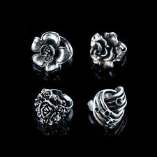 Wholesale Lot 10 Vintage Style Mixed Adjustable Silver Tone Iron Cocktail Rings