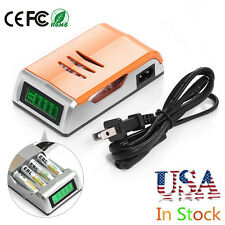 Universal LCD Smart Rapid Battery Charger for AA AAA NiMH NiCD Alkaline Battery