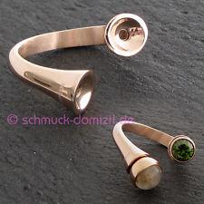 NEU - MelanO Twisted Curved Ring TULIP - Edelstahl ROTGOLD Gr. 52