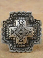 Old Style Navajo Sterling Silver Santa Fe Cross Ring sz. 8 1/2