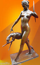 "ART DECO, BRONZE STATUE McCARTAN ""DIANA with HOUND"" BRONZE FIGURE FIGURINE"