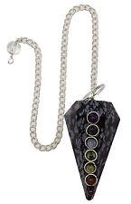 Schneeflocke Obsidian Kegel Pendel Facettiert Reiki-Energie Edelsteine