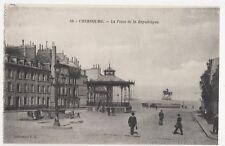 France, Cherbourg, La Place de la Republique Postcard, B275