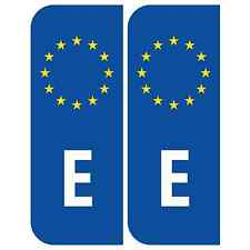 Pair of Road Legal Reflective Euro E Spain España Stickers for Car Number Plates