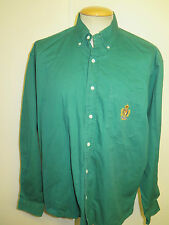 Ralph Lauren POLO men's Green Long Sleeve Casual Shirt Loose Fit Size L 42-46