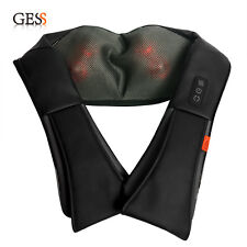 GESS012 Shiatsu Neck & Back Shoulder Massage Massager with Heat Black