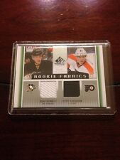 2013-14 SP Game Used Rookie Fabric Dual Jersey Bennett/Laughton Hockey Card Mint