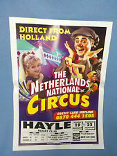 Circus Poster - Netherlands National Circus - Hayle Venue.
