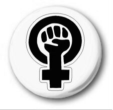 "FEMINIST FIST - 25mm 1"" Button Badge - Novelty Cute Power to the People"