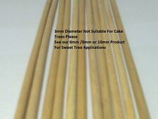 10   WOODEN DOWEL RODS 3MM DIAMETER FOR CRAFT AND MANY OTHER USES