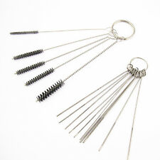 Carburetor Carbon Dirt Jet Remove 10 Cleaning Needles + Brushes Tool For Suzuki