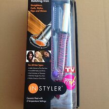 "Instyler Rotating Hot Iron 1 1/4"" Barrel Ceramic Pink Zebra With DVD Brand New"