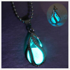 Newly Fashion Little Mermaid's Teardrop Glow in the Dark Pendant Necklace gifts