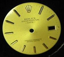 GENUINE ROLEX OYSTER PERPETUAL DATE GOLD WATCH DIAL 26.8 mm