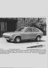 """ORIGINALE VAUXHALL CHEVETTE Press Photo per OTTOBRE 1975 """"brochure"""" correlati"""