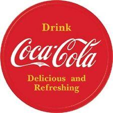Drink Coca-Cola Logo ROUND TIN SIGN Metal Vintage Restaurant Bar Ad
