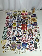 136PC Vintage Bowling Patch Lapel Pin LOT League Team Tournament Junk Drawer